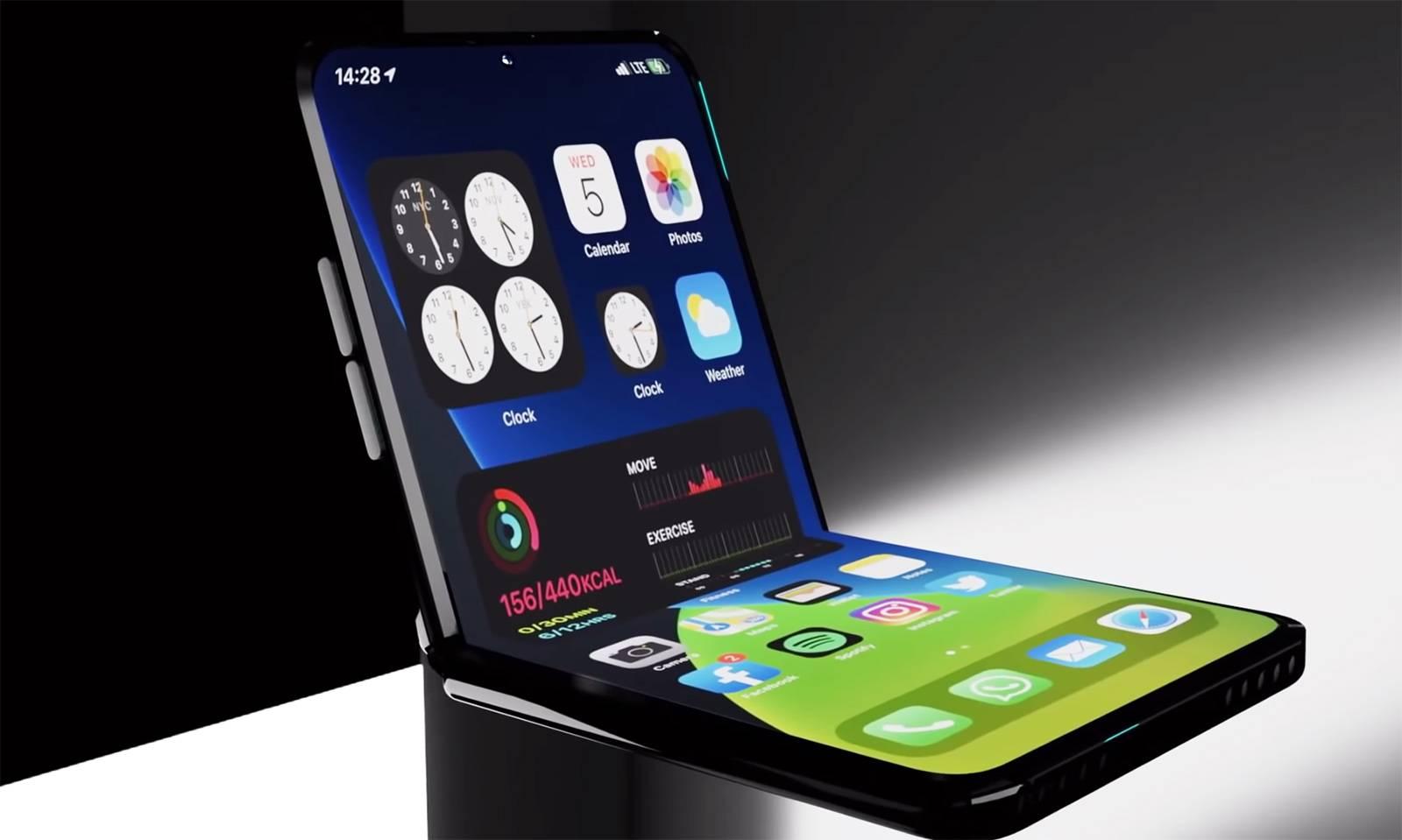 Iphone Flip el nuevo mobile plegable de Apple ?